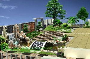 Thiết kế thi công sân vườn A Nam, Tĩnh Gia, Thanh Hóa 1