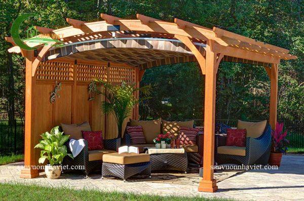 Thiết kế thi công nhà chòi sân vườn 2